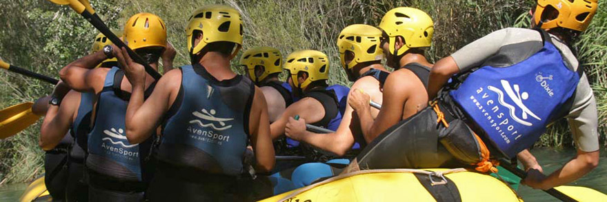 rafting in Cabriel river